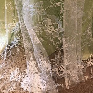 Dresses - Green Lace Beaded and Rhinestone Ball Gown